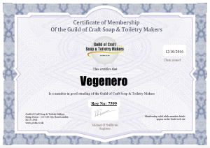 View Membership of the Guild of Craft Soap & Toiletry Makers
