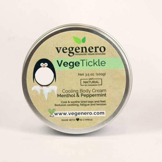 Vegan Cooling Peppermint Natural Body Butter Cream VegeTickle