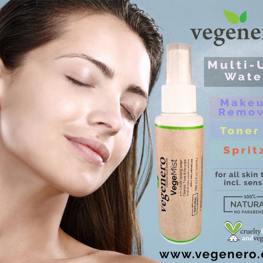 VegeMist Natural Vegan Face Eye Makeup remover mist toner sprayer spritzer