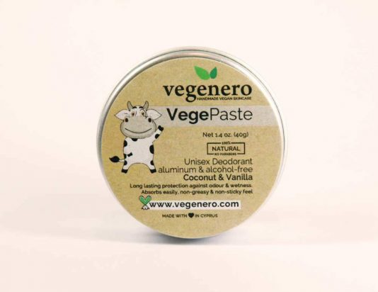VegePaste Vegan Natural Deodorant Coconut & Vanilla